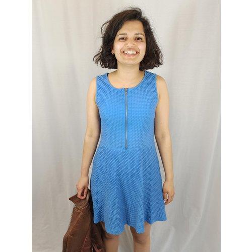 H&M Rits jurk - licht blauw