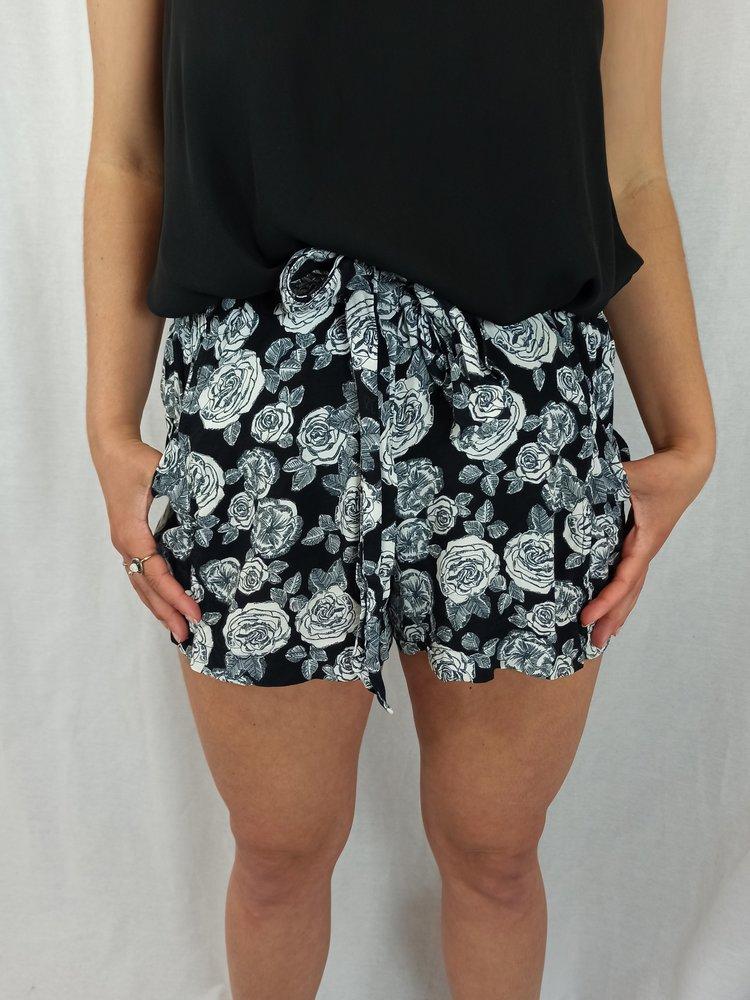 River Island Rozen shorts - zwart wit