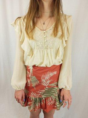 River Island Ruffles blouse - cream lace
