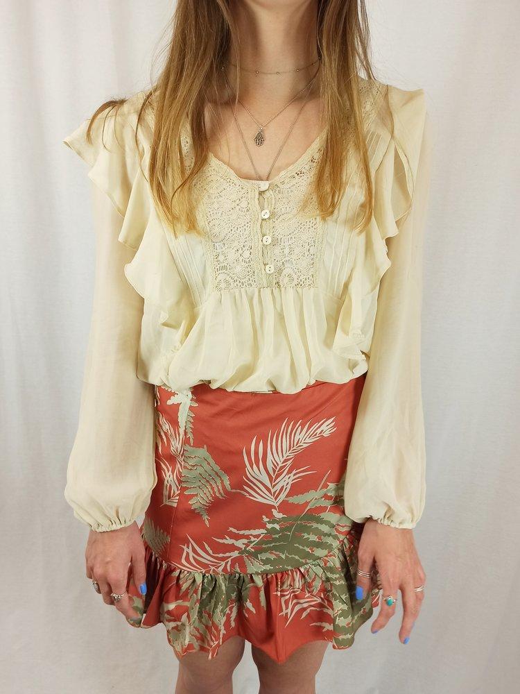 River Island Ruffles blouse - crème kant