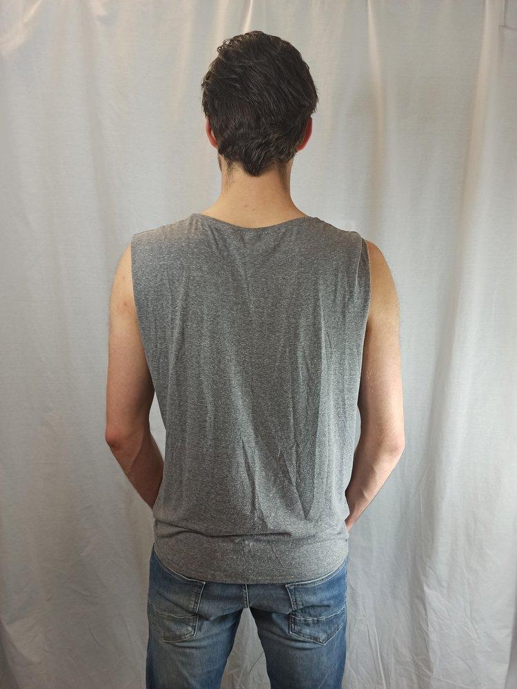 H&M Sleeveless T-shirt - print grijs