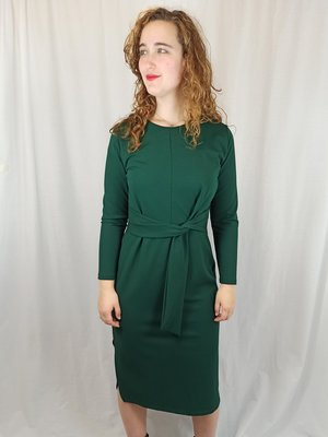 Sissy-Boy Touwknoop midi-jurk - groen chique