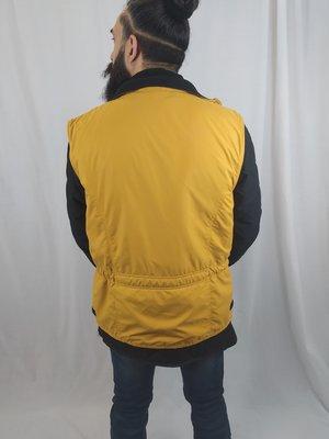 Vintage Vintage bodywarmer jacket - geel zwart