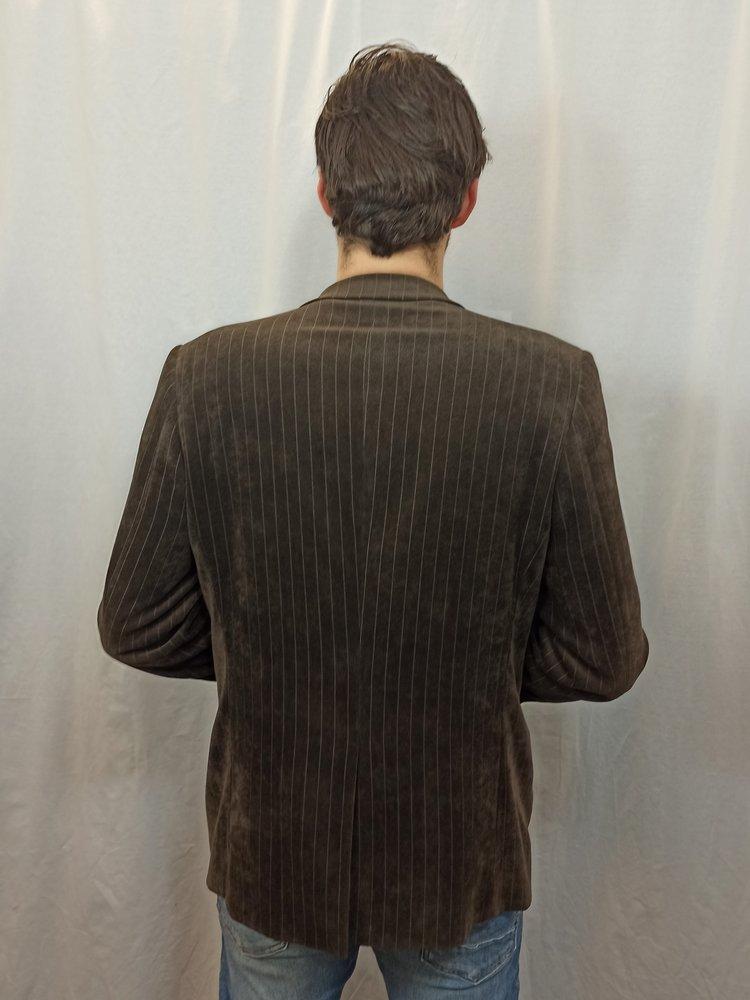 Vintage Vintage gestreepte blazer - bruin glans