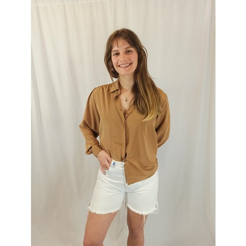 Vintage Vintage blouse - bruin chique