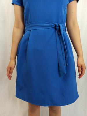 New collection Chique jurk - koningsblauw strik