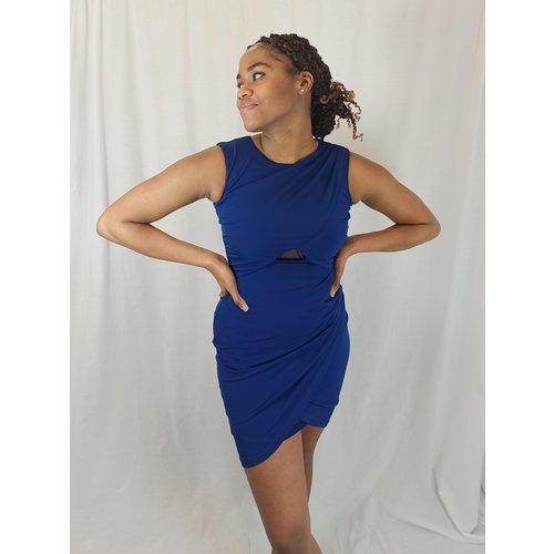 River Island Gedrapeerde jurk - donkerblauw