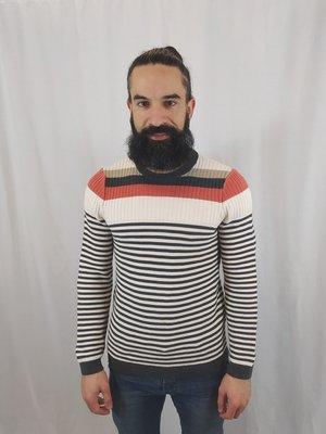Hugo Boss Striped sweater - white gray orange