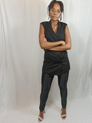 H&M Glanzende broek - zwart