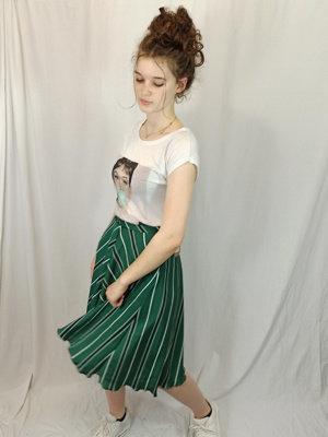 H&M Gestreepte rok - groen
