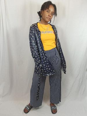 Gestreepte pantalon - blauw wit