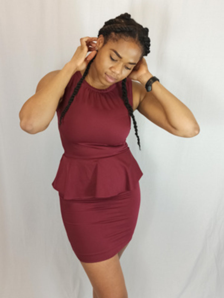 H&M Peplum jurk - rood