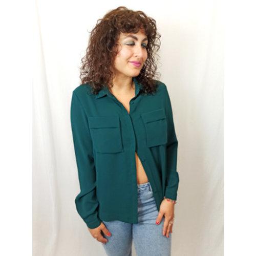 Chique blouse - donker groen