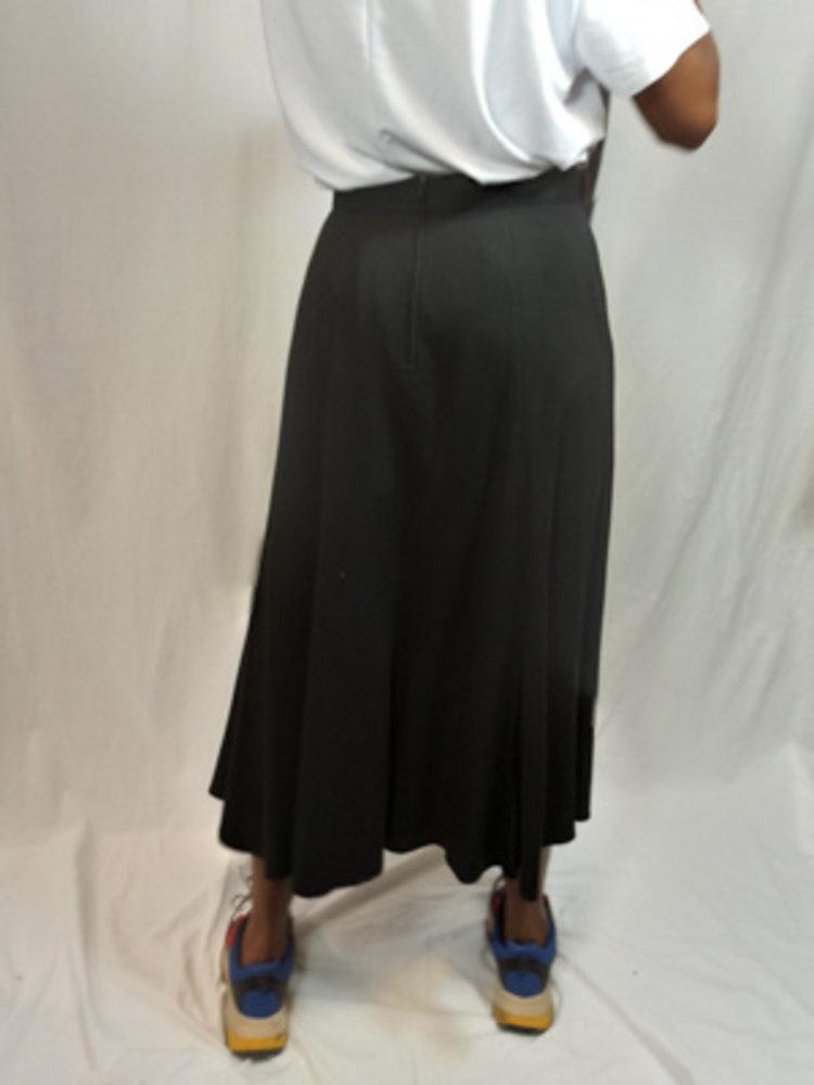 H&M Lange plissé rok - zwart