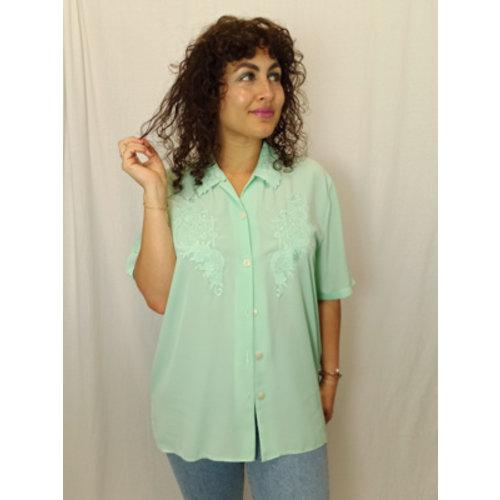 Vintage pastel blouse - groen
