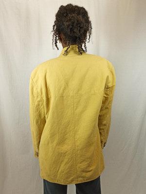 Vintage linnen blazer - geel