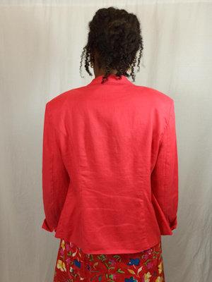 Vintage linnen blazer - rood