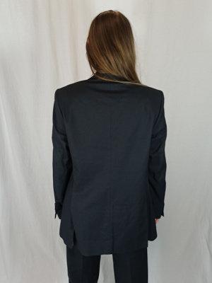 Zara Krijtstreep pak - zwart