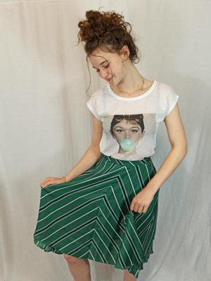 Kauwgom print T-shirt - wit