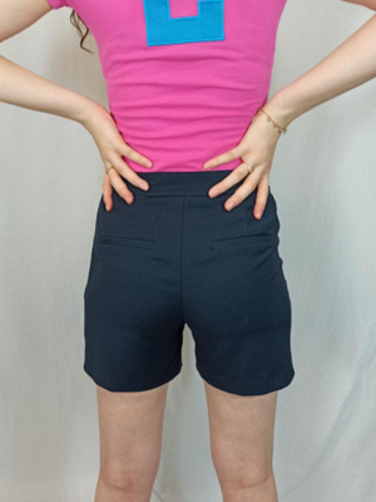 H&M High waist marine shorts - donker blauw
