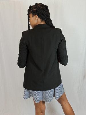 Pieces Basic blazer - zwart 3/4 mouw