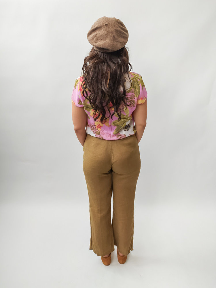 Flower print blouse - pink