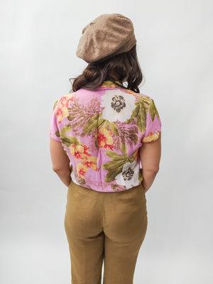 Bloemenprint blouse - roze