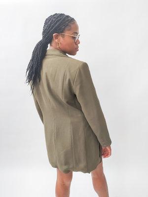 Long blazer jacket - green