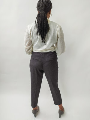 Monki Mixed trousers - grey
