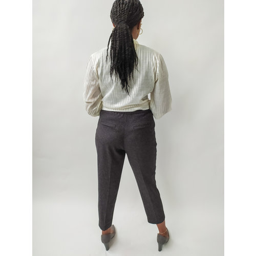 Monki Gemeleerde pantalon - grijs