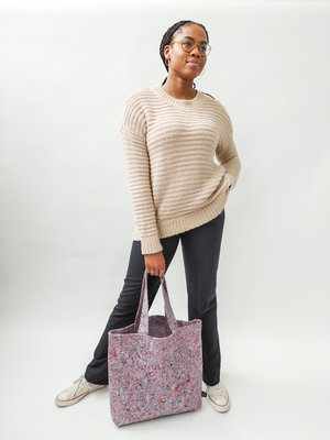 H&M Knitted long sweater - beige