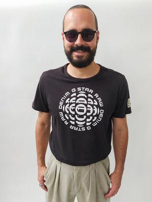 G-Star Zwart T-shirt - wit design
