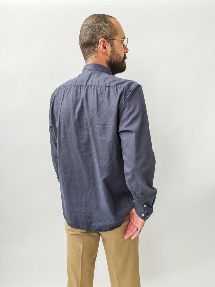 H&M Katoenen overhemd - donker blauw