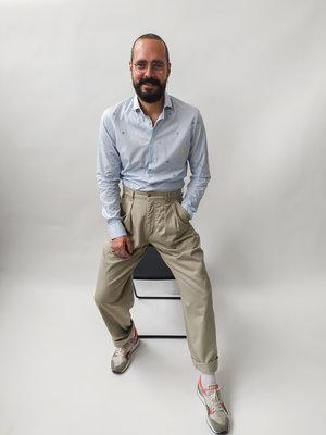 Vintage Balloon leg pantalon - beige (W34)