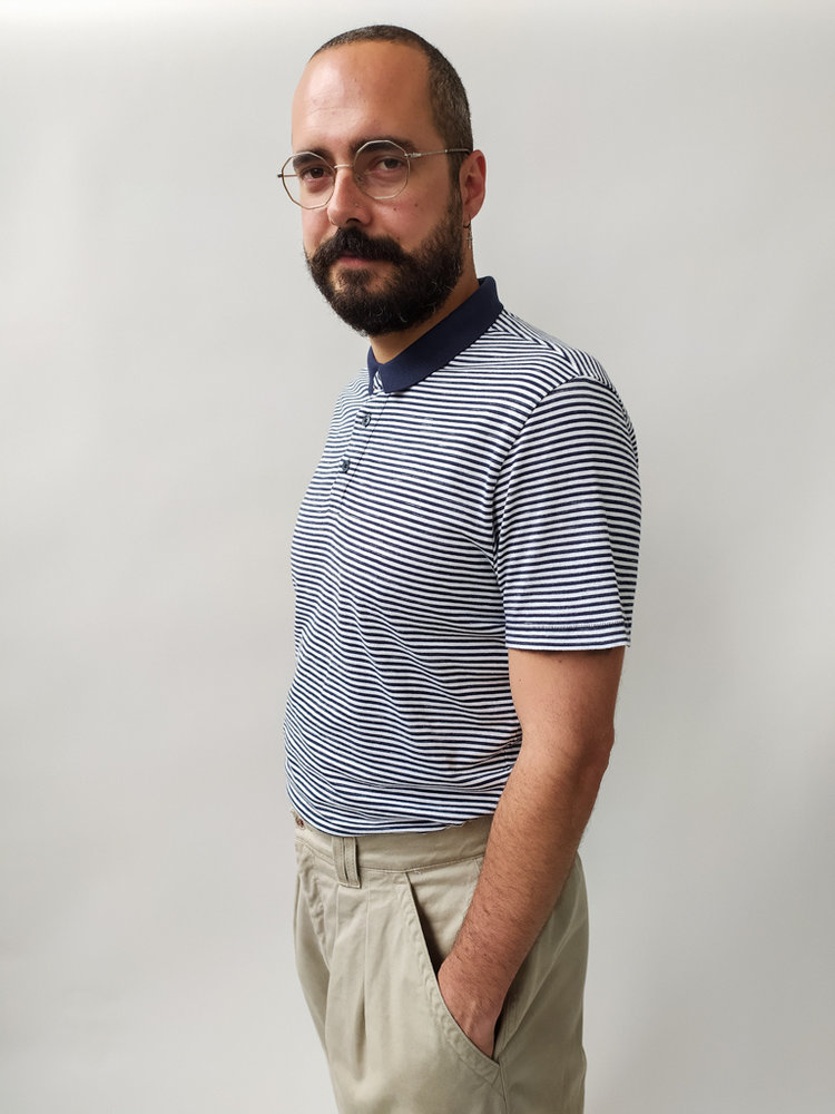 Livergy Gestreept T-shirt - wit blauw
