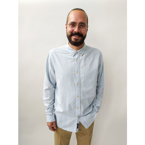Streepjes overhemd - blauw