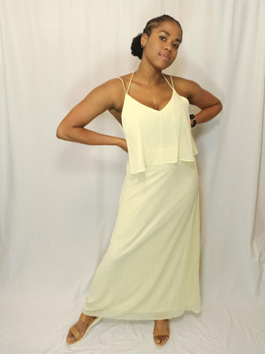IVIVI Flowy maxi dress - yellow