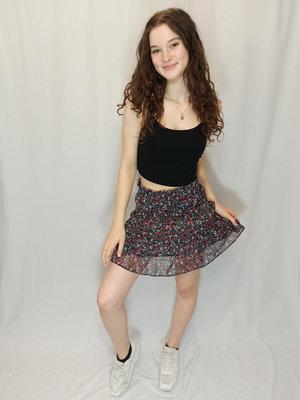 H&M Floral short skirt - blue red