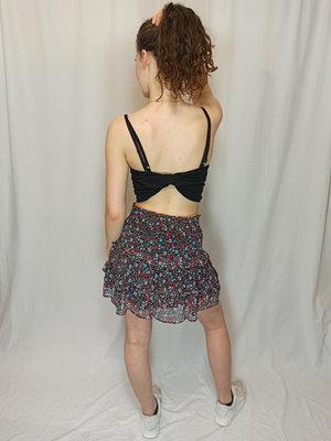H&M Gebloemde korte rok - blauw rood