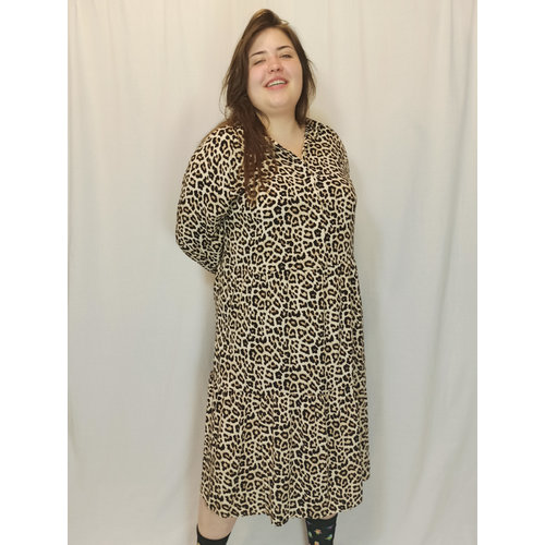 H&M Panther oversized dress - brown