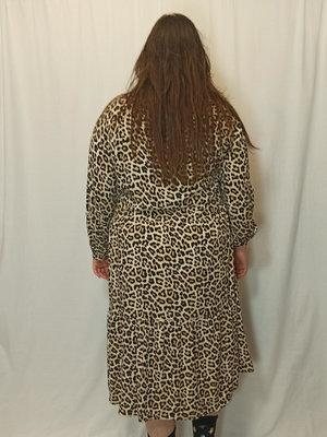 H&M Panter oversized jurk - bruin