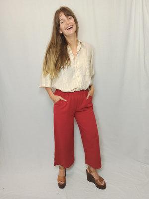 Dr Denim Basic culotte - red