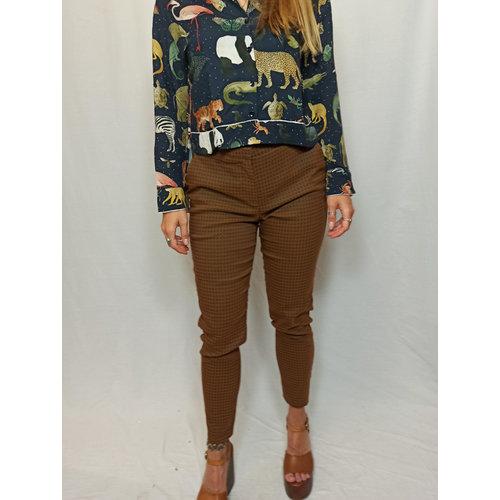 vanilia Checkered trousers - brown
