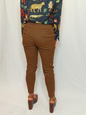 vanilia Geruite pantalon - bruin