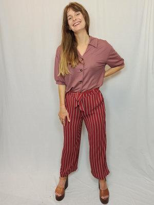 Only Striped culotte - bordeaux