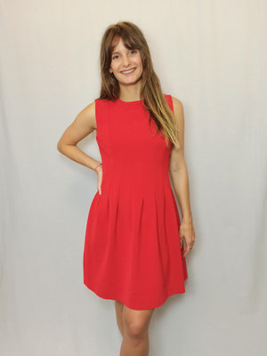 H&M Fitted shift dress - red