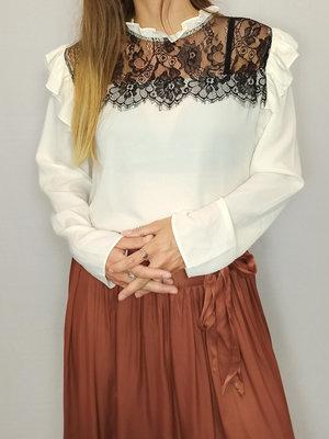 H&M Lace t-shirt - white