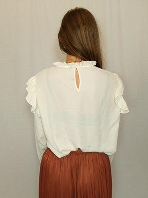 H&M Kanten T-shirt - wit