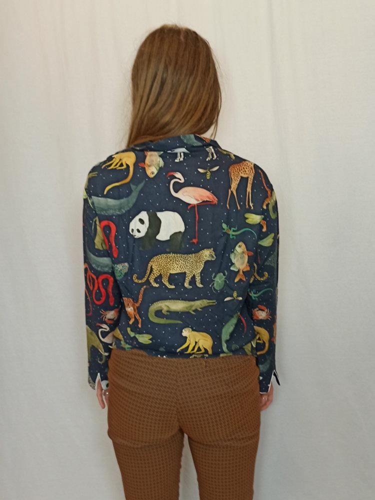 Zara Animal print blouse - blue