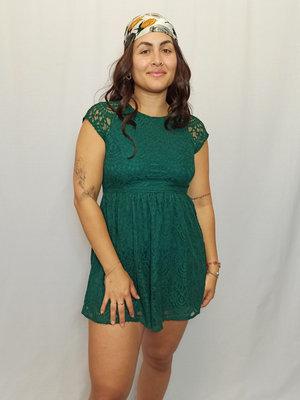 H&M Lace skater dress - green